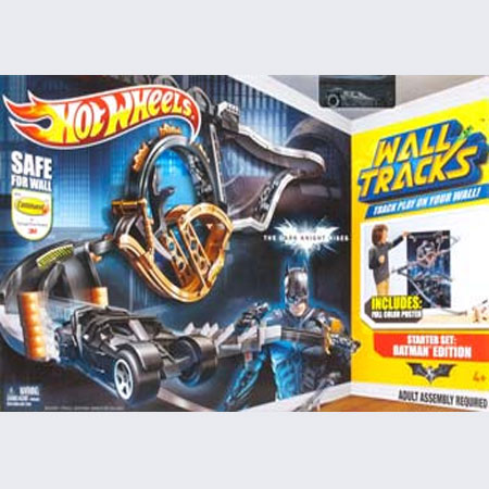 Hww6272 hot wheels wall tracks batman set for Hot wheels wall tracks template