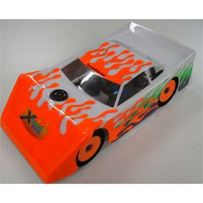 XTR10486]* 1/8 Scale Dirt Oval / Late Model Body, Clear